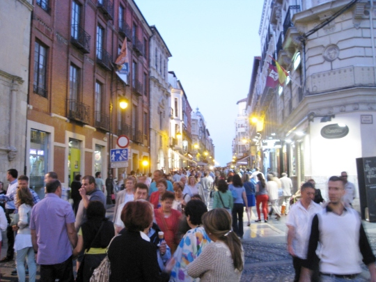 Night Scene on Calle Ancha