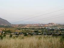 Ponferrada iin the Distance