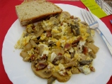 Cepes, Jamon & Scrambled Eggs