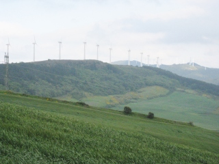 Wind Turbines Along the Ridge