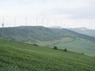 Wind Turbines Along the Ridge