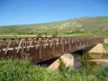 Bridge at Base of Ridge