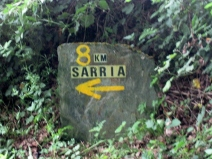 Sarria's Just 8 Kilometers Away