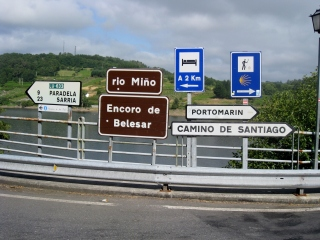 Signs to Portomarin