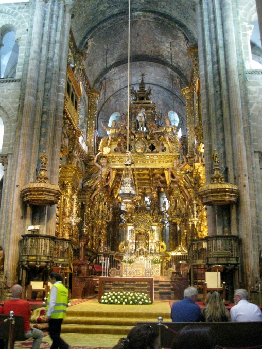 The Altar and Baroque Facade or Baldachin