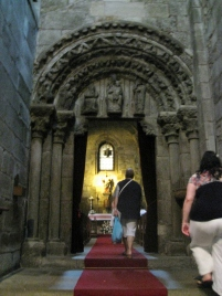 Entrance to the Chapel of St. Mary of the Corticela