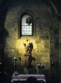 Altar in teh Chapel of St. Mary of the Corticela