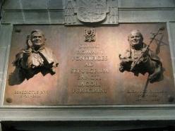 Pope John Paul II and Pope Benedict XVI