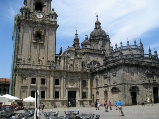 Facade of Cathedral from Plaza of Quintana