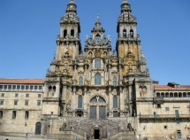 Facade of the Obradoiro Side of the Cathedral